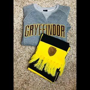 Harry Potter Gryffindor Gray Sweatshirt Size Small